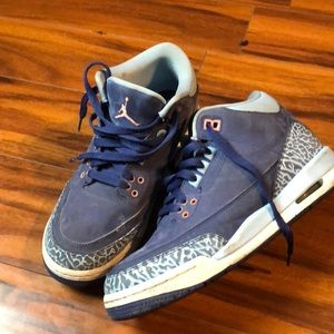 Air Jordan 3 Retro Purple Dust Shoes Youth 6.5